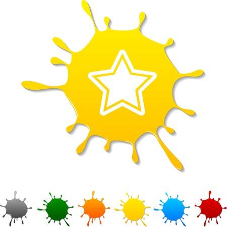 Star  blot icon. Stock Vector - 5693007