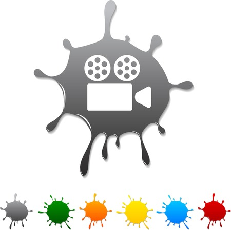 Cinema  blot icon.  Vector