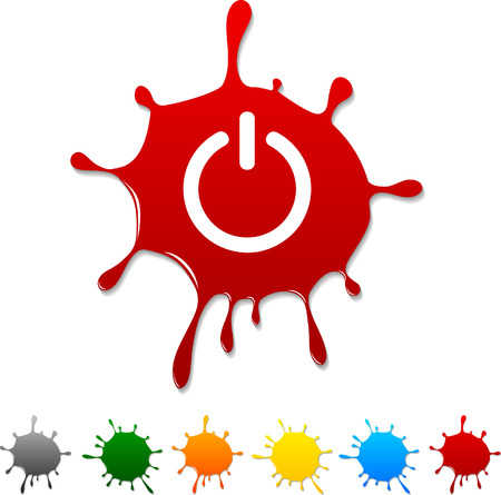 Switch  blot icon. Stock Vector - 5693020
