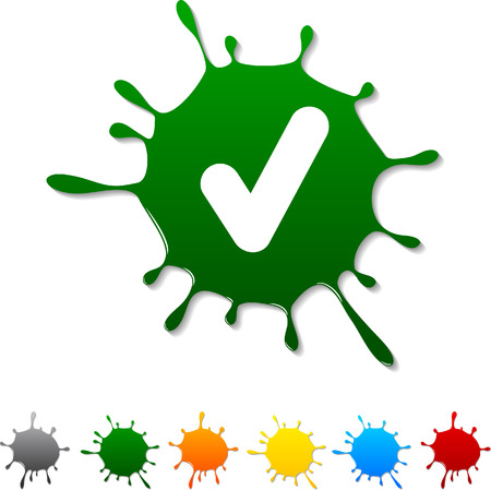 Check  blot icon.  Stock Vector - 5693003