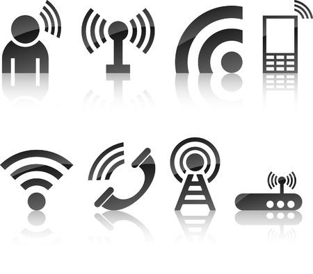 kommunikation:  Communication icon collection. Vector illustration.