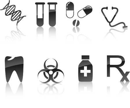 Medical icon collection. Vector illustration.  Vector