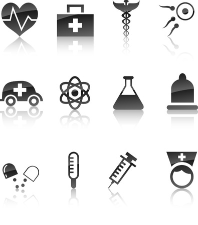 Medical icon collection. Vector illustration.   Stock Vector - 5719323