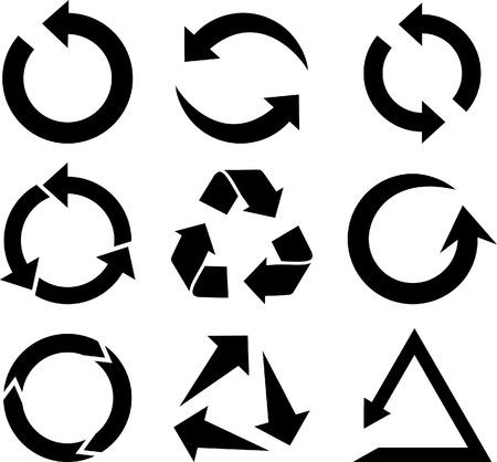 Colección de iconos de Arrows. Ilustración vectorial.