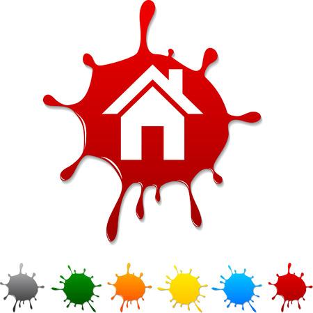Home  blot icon. Vector illustration. Stock Vector - 5719335