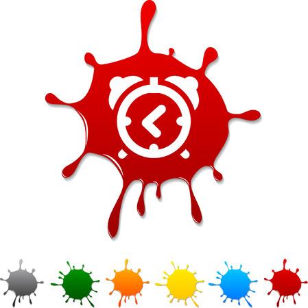 alarm-clock  blot icon. Vector illustration.  Illustration