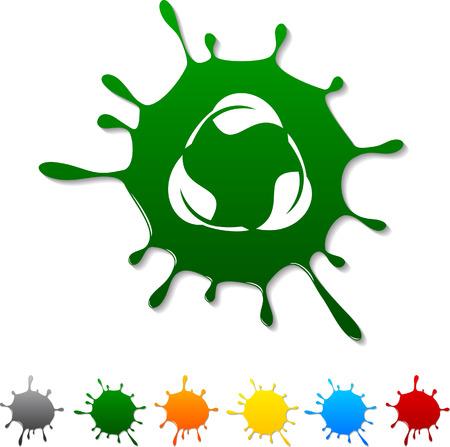 Recycle  blot icon. Vector illustration.  Stock Vector - 5719379