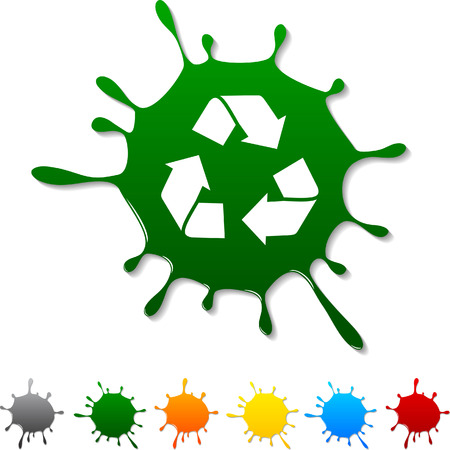 recycle: Recycle  blot icon. Vector illustration.