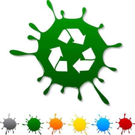 Recycler icône Blot. Vector illustration.