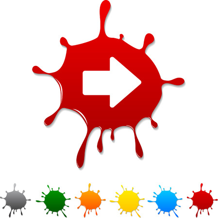 Arrow blot icon. Vector illustration.  Vector