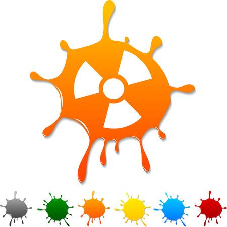 Radiation  blot icon. Vector illustration.  Vector