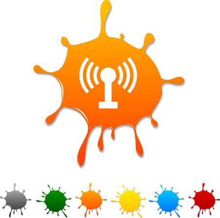Radio  blot icon. Vector illustration. Stock Vector - 5719359