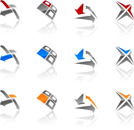 Set of symbols. Vector illustration. Stock Vector - 5719342