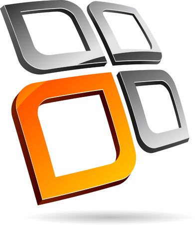 Abstract 3d symbol. Vector illustration. Stock Vector - 5719340