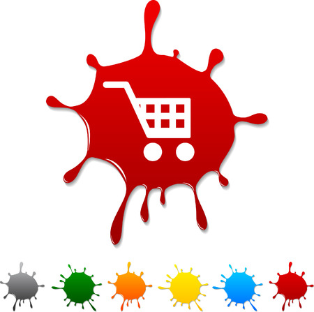 shopping cart: Buy blot icon. Vector illustration.  Illustration
