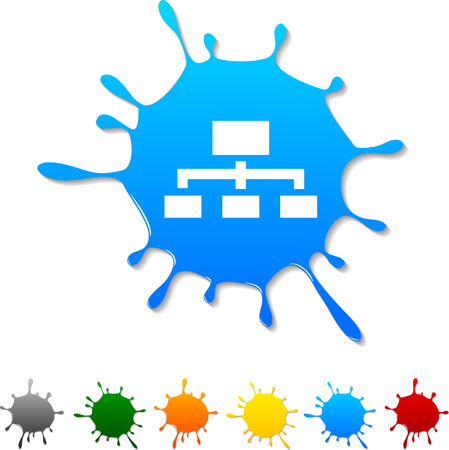 Network  blot icon. Vector illustration.  Stock Vector - 5719394