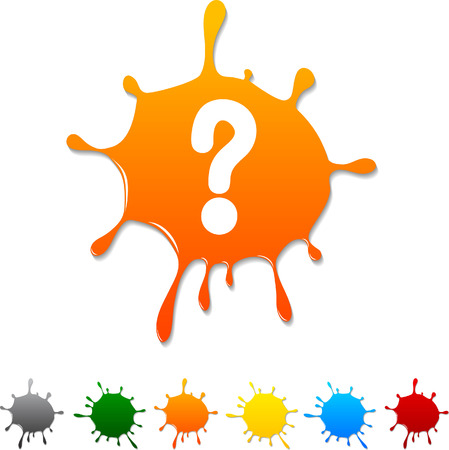 Question  blot icon. Vector illustration.  Stock Vector - 5719405