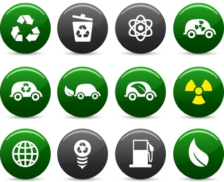 Ecology  icon set. Vector illustration. Stock Vector - 5742241