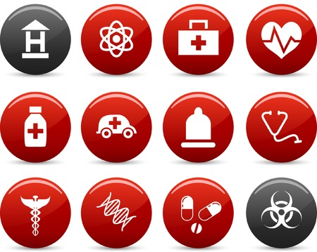 Medical  icon set. Vector illustration. Vector