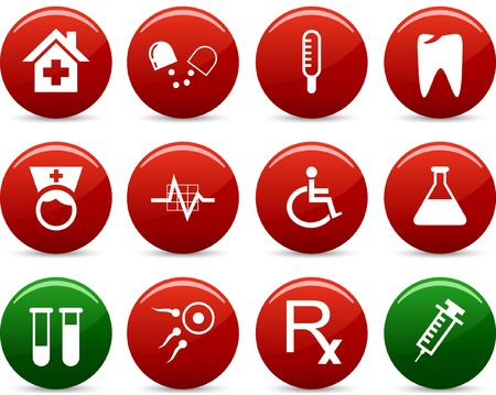 Medical  icon set. Vector illustration. Stock Vector - 5742240