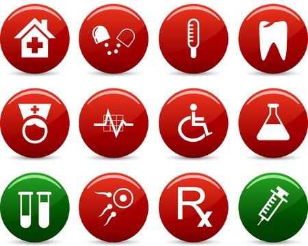 spermatozoon: Medical  icon set. Vector illustration.  Illustration