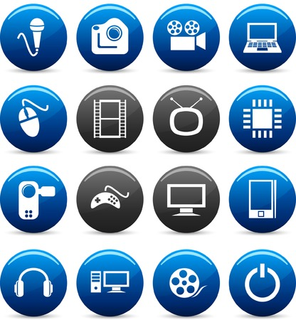 Multimedia icon set. Vector illustration. Stock Vector - 5742245