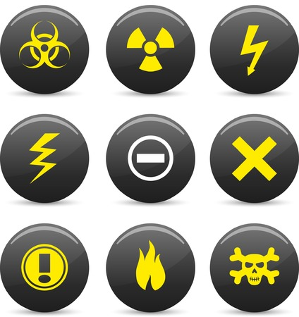 Warning  icon set. Vector illustration.  Stock Vector - 5742243