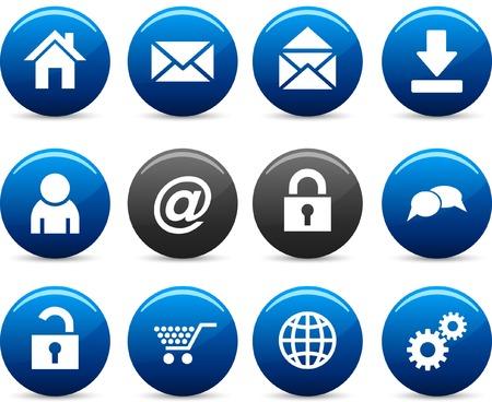 web   icon set. Vector illustration. Stock Vector - 5742250