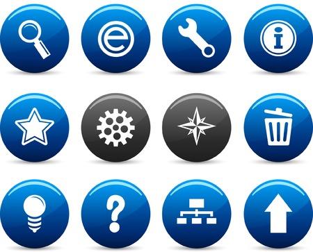 web   icon set. Vector illustration. Stock Vector - 5742239
