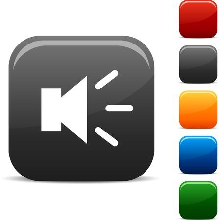 Sound icon set. Vector illustration. Stock Vector - 5742252