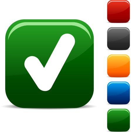 check icon: Icono Comprobar conjunto. Ilustraci�n del vector. Vectores