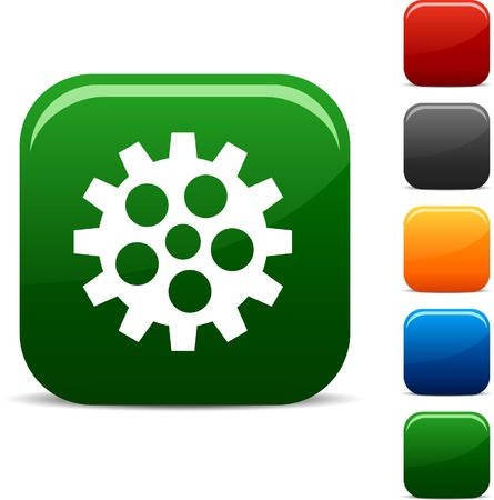 Gear icon set. Vector illustration.  Vector