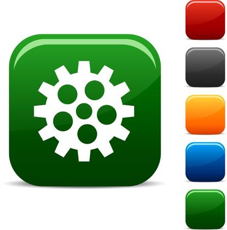 Gear icon set. Vector illustration. Stock Vector - 5747040