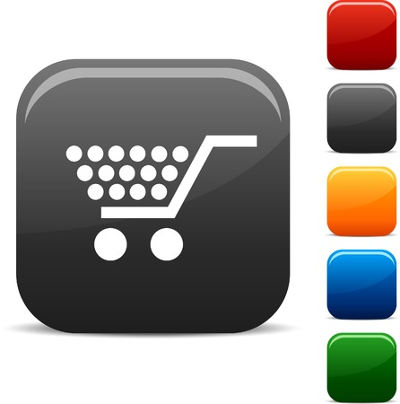 Shopping icon set. Vector illustration.  Vector
