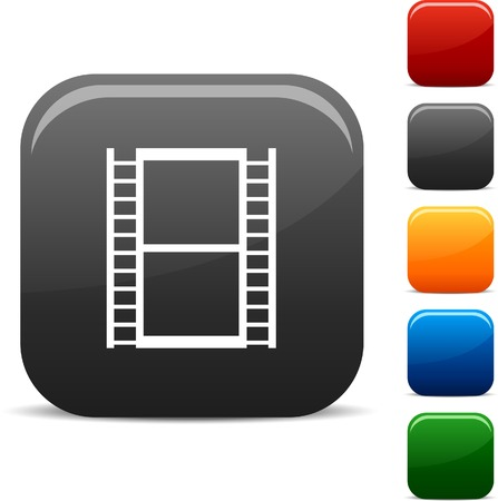 Cinema icon set. Vector illustration.  Stock Vector - 5747939