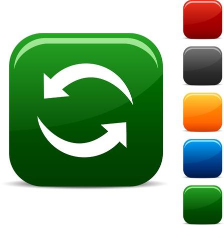 opfrissen: Vernieuwen icon set. Vector illustratie. Stock Illustratie