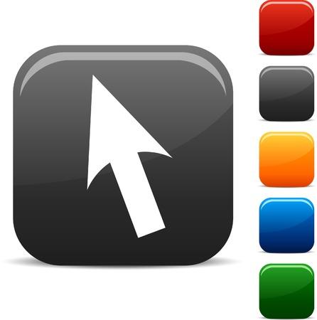 cursor: Cursor icon set. Vector illustration.