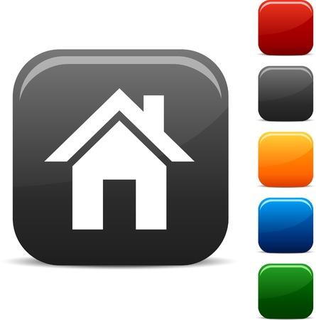 Set di icone di casa. Illustrazione vettoriale.