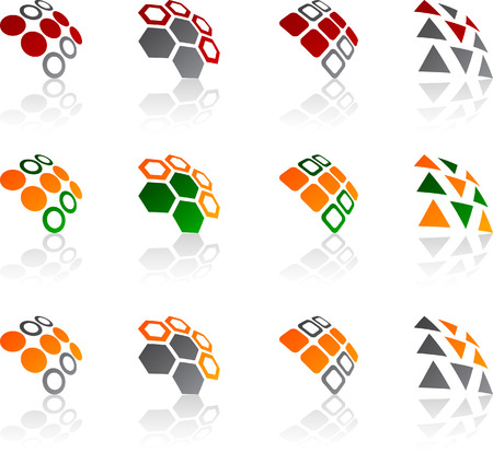 Set of abstract symbols. Vector illustration. Stock Vector - 5752541