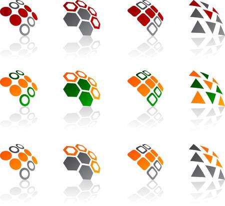 Set of abstract symbols. Vector illustration. Stock Vector - 5752541