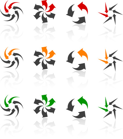 Set of abstract symbols. Vector illustration. Stock Vector - 5752538