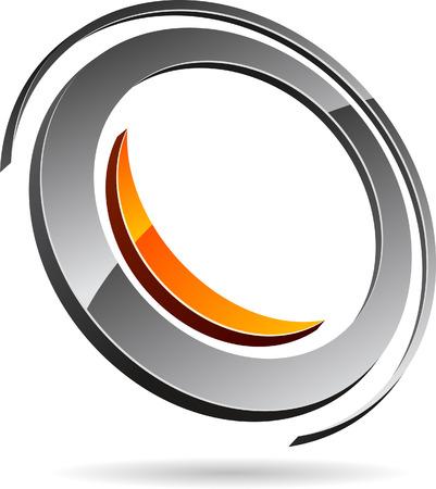 Glossy abstract symbol. Vector illustration. Stock Vector - 5752535
