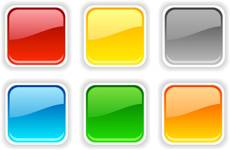 Web shiny buttons. Vector illustration. Stock Vector - 5752539