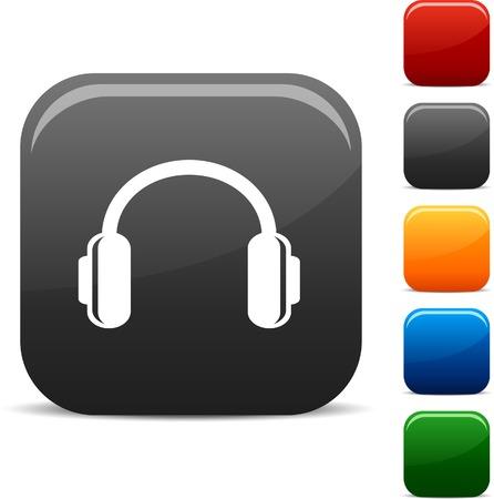 headphones  icon set. Vector illustration. Stock Vector - 5756025