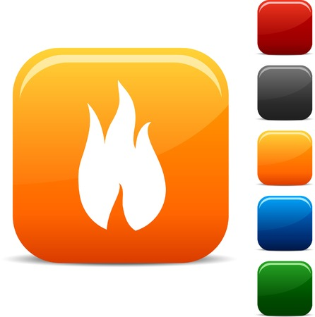 fire vector:  Fire icon set. Vector illustration.