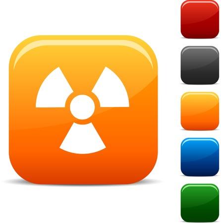Radiation  icon set. Vector illustration.  Vector