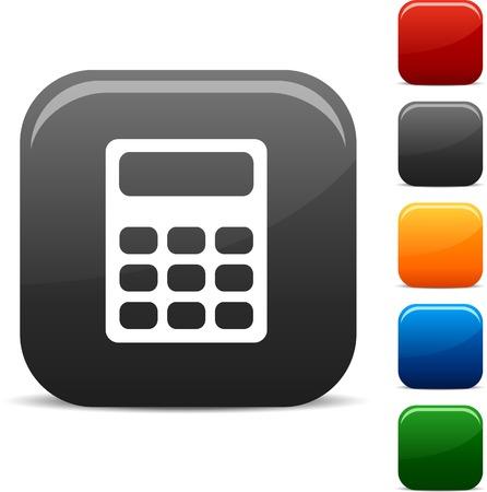 rekenmachine: Bereken icon set. Vector illustratie.