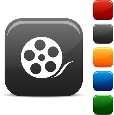 Media icon set. Vector illustration. Stock Vector - 5765292