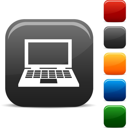 Notebook icon set. Vector illustration.  Vector