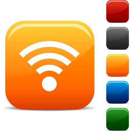 icono wifi: Rss icon set. Ilustraci�n del vector.